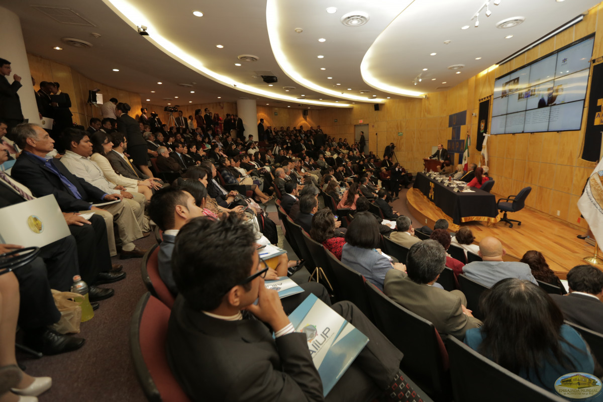More than 200 higher level universities attend the launch of the Chair for Peace