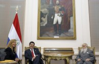 Visiting Horacio Cartes, President of Paraguay