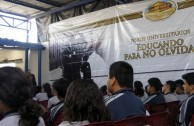 "Three day conference in Basic Education, Media and Diversified Schools, which received the GEAP and the Forum: ""Educating to Remember"" in Guatemala"