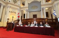 """In a solemn session in the Congress of the Republic of Peru, the GEAP presents the project """"Traces to Remember""""."""