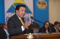 """The President of the First Appeals Court of the High Court of Justice in Peru, Dr. Percy Maximo Gomez Benavides, participated during the third table at the Judicial Session of CUMIPAZ, where he spoke on the """"Proposal for the revision and amendment of the Convention for the Prevention and Punishment of the Crime of Genocide, the Rome Statute and other correlative regulations."""""""
