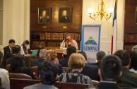 """Academic authorities of Chile, Guatemala and Venezuela spoke on """"The focus of Higher Education in values, based on transformational leadership"""", which was the central topic of the third workshop table during the Educational Session of CUMIPAZ 2015."""