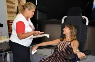Argentinean citizens participate in the first voluntary blood drive