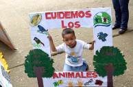 Emotive and colorful march and an environmental parade were made by the Global Embassy of Activists for Peace in Tocoa, Honduras.