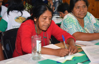 "Indigenous peoples present during the 4th Regional Encounter of the ""Children of Mother Earth"""