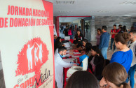 University students attend to blood drive