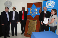 The United Nations office in Panama received the Simon Burstein plaque in it's third station