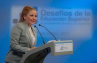 Lcda. Gabriela Lara, compartiendo la propuesta de la EMAP en la educación superior como una estrategia para el desarrollo humano; e invitando a vincularse a la ALIUP.