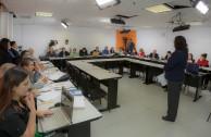 Mesas simultáneas de trabajo sobre cuatro temáticas dirigidos a enfoques pedagógicos, educación integral, cátedra de paz y responsabilidad social.
