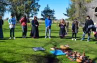 Purification ritual and thanks to Pachamama