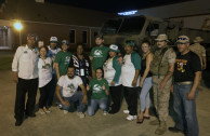 Volunteers of the GEAP, US Congressmen, Officers and NCOs of the Army.