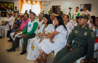 Assistants to the Discussion on the artisanal culture of the indigenous peoples in the Córdoba Battalion.