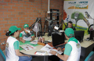 Buga activists socializing at Radio Valle Verde