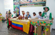The activist Elizabet Colorado reads the Proclamation of the Rights of Mother Earth