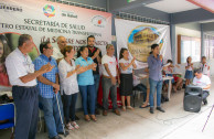 Students of the UAGro participate in a blood drive