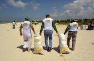 Playa sin basura.