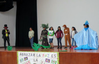 Artistic demonstrations in Peru in favor of our planet.