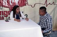 Salvadoran heroes in the 10th international blood drive marathon
