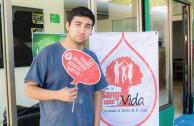 Donando sangre