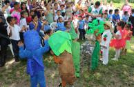 El Salvador, los niños se identifican con la madre tierra.