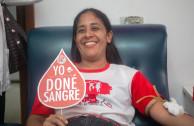 activistas donando