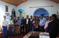 Autoridades guatemaltecas reciben la proclama
