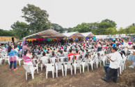Concert of the OSEMAP in shelter of the La Industria farm, Escuintla to families that were affected by the volcanic eruption of June 3, 2018.