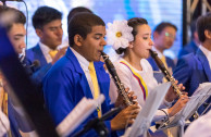 The members of the orchestra in different countries receive comprehensive training: preparation in the field of music, as well as leadership, human rights and values.