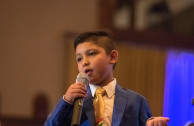 Gabriel Azogue Jiménez, a 7-year-old Bolivian, was also a presenter at the Gala night