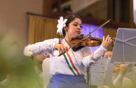 Violinist Clara Montemayor of Mexican nationality