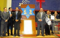 """The campaign """"Traces to Remember"""" embraces different communities, the Tabernacle of Faith in Panama received the plaque of Simon Burstein"""