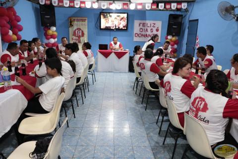 Cena para voluntarios