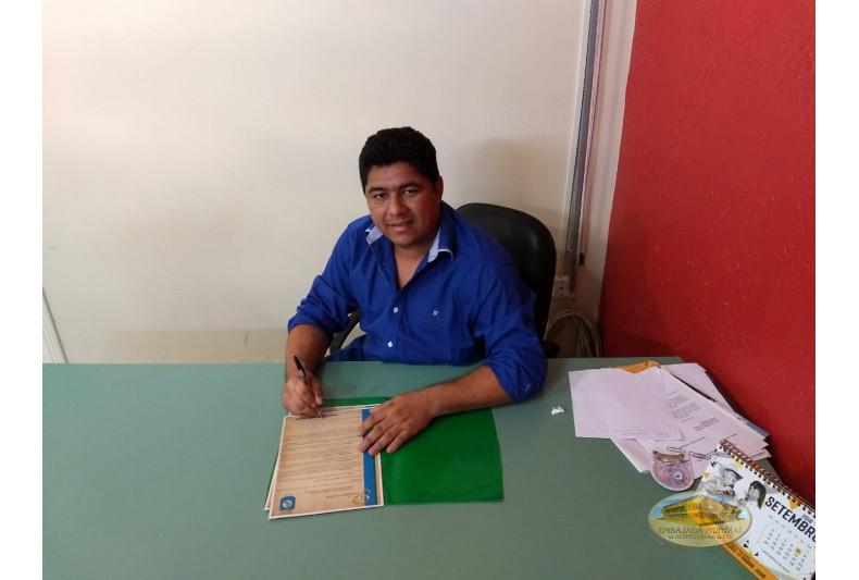 Firma del alcalde de Bujari