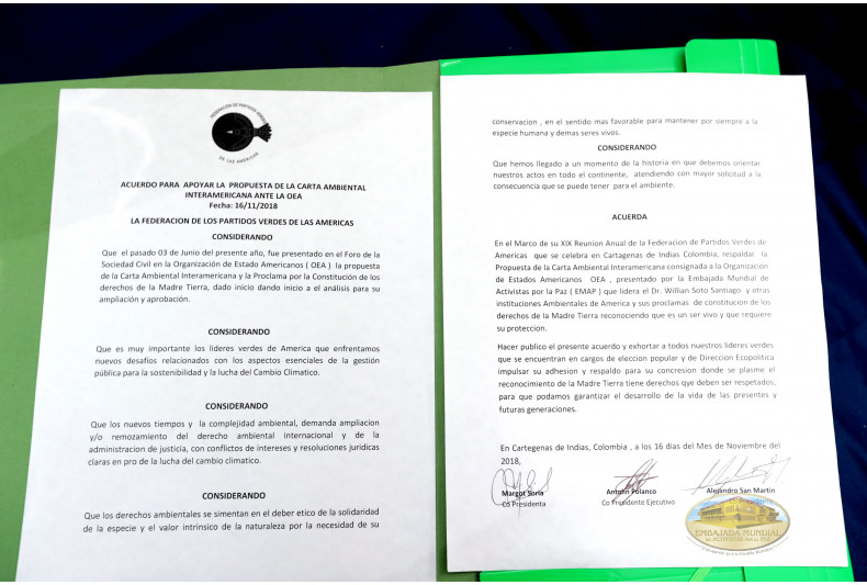 Documento Apoyo de la FPVA a la Carta Ambiental Interamericana