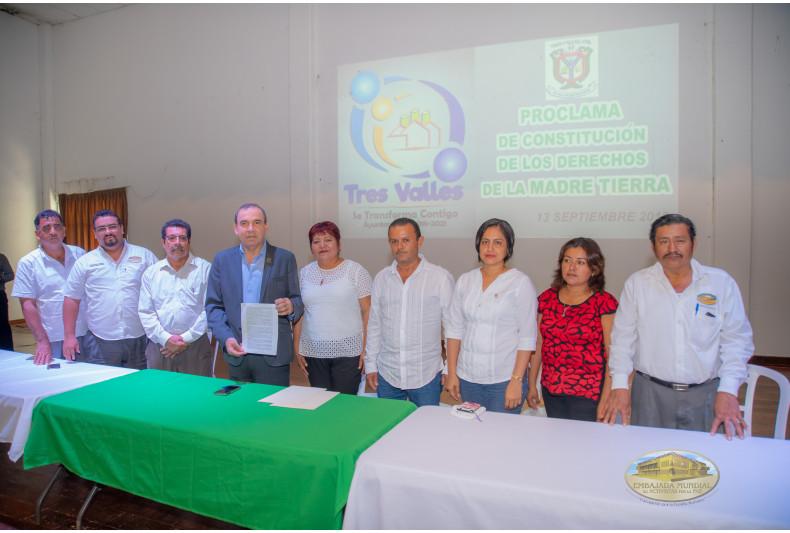 Tres Valles, Veracruz se une para reconocer a la Madre Tierra como ser vivo