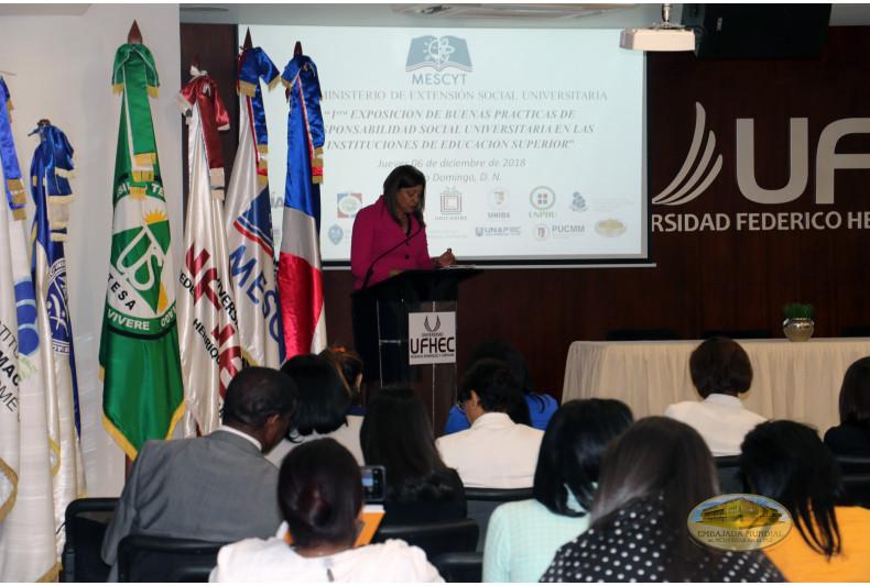 Dra. Enid Gil, Viceministra de Extensión Social Universitaria del Ministerio