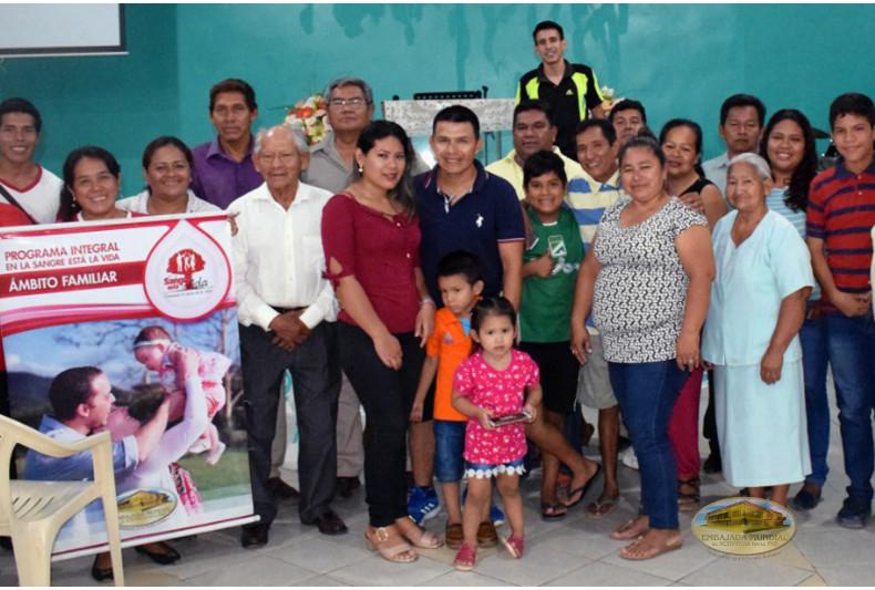 Participantes de las charlas de sensibilización en ciudad Trinidad