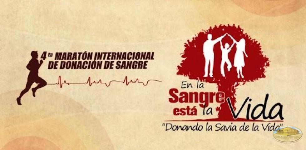 4ta Maratón Internacional de Donación de Sangre: En la Sangre está la Vida