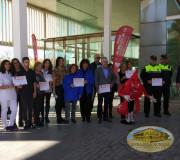 Presencia de diferentes entidades  en la Jornada de Donación, parte de la 12 Maratón, en Madrid