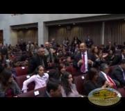 Congreso de la República de Chile recibe la placa Huellas para no olvidar de David Feuerstein