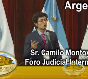 Justicia para la Paz - Argentina - Foro Judicial - Sr. Camilo Montoya Real | EMAP