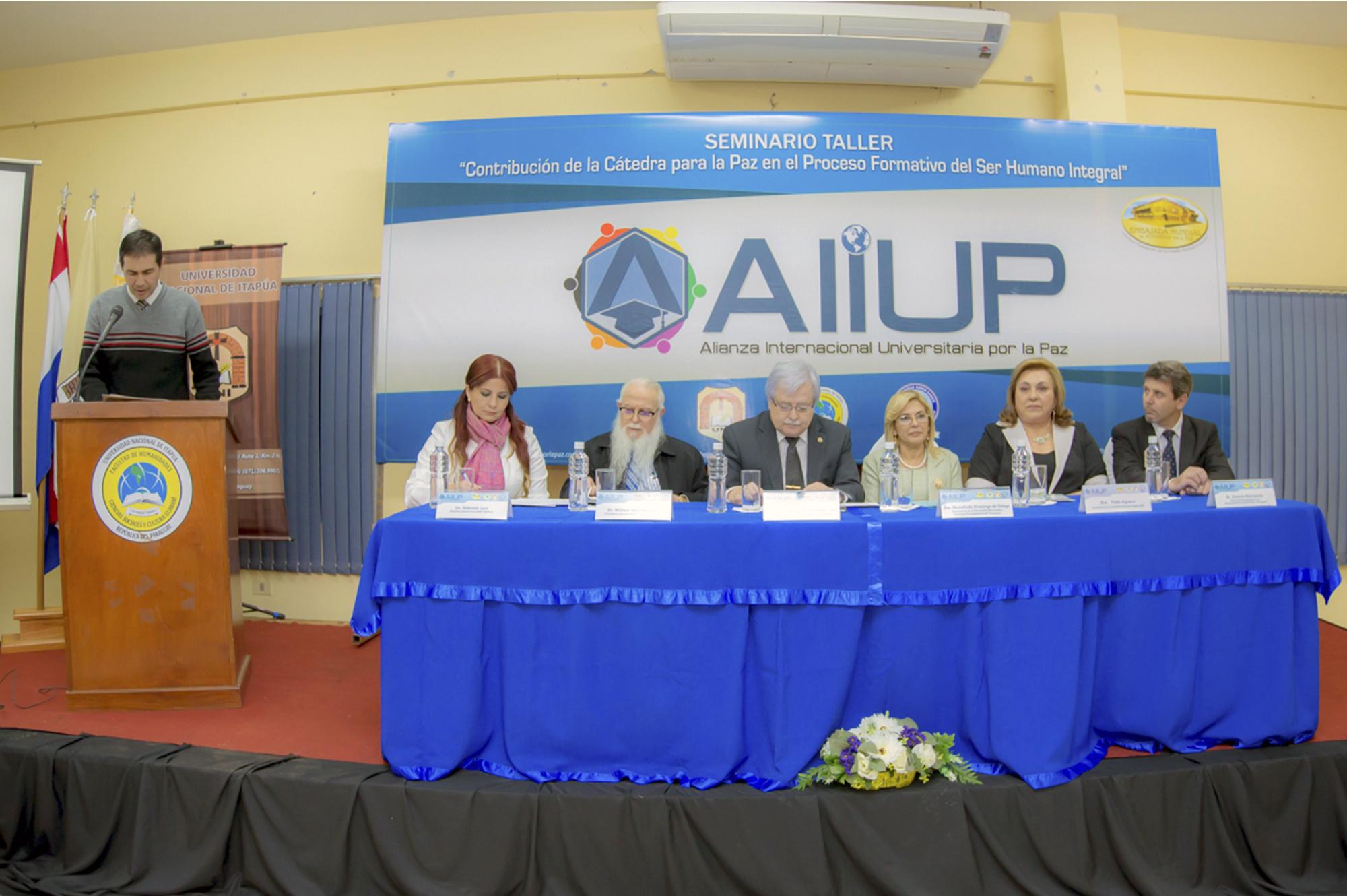 """CÁtedra Por La Paz: Primer Seminario Taller """"Contribución De La Cátedra"""
