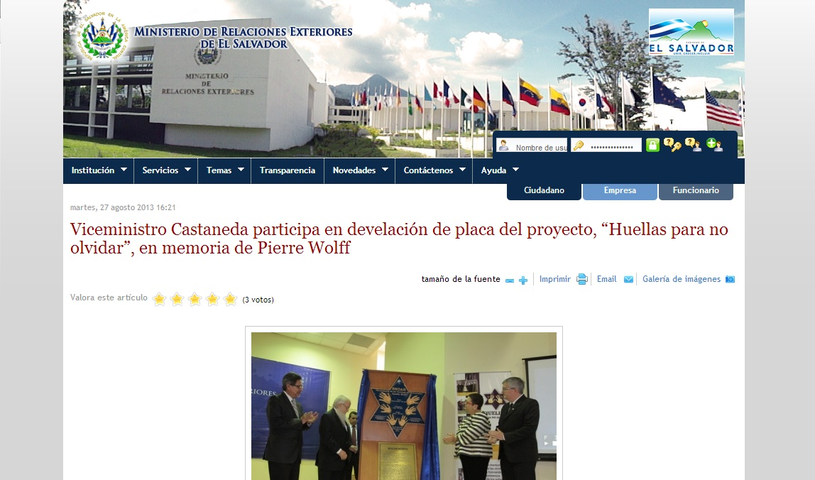 P gina oficial del ministerio de relaciones exteriores de for Ministerio del interior pagina oficial