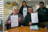 Representantes de Perquenco firman Proclama