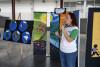 Exposición de módulos sobre educación ambiental.