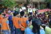 """Los talleres ambientales siendo dictados en las instalaciones de la Unidad Educativa """"Las Palmeras"""""""