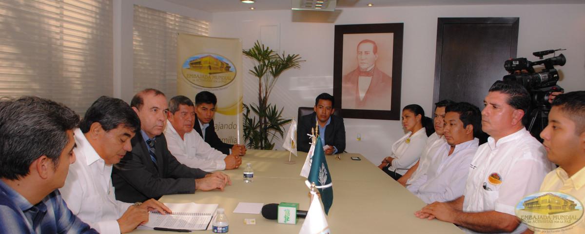 Reunión para firma de alianza