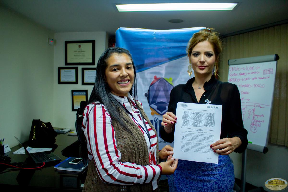 La educación superior en Colombia adhiriéndose a las Firmas de convenios con la ALIUP.