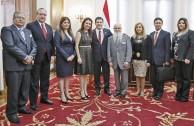 Visiting Horacio Cartes, President of Paraguay