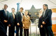 "Inauguration of the monument ""Traces to Remember"" in the public square of Cuidad de las Esculturas"